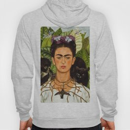 SELF PORTRAIT WITH THORN NECKLACE AND HUMMING BIRD - FRIDA KAHLO Hoody