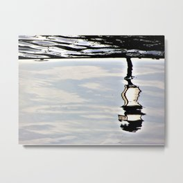 Lamp reflection upsidedown Metal Print