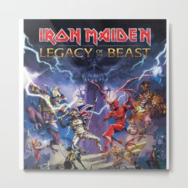 iron maiden - legacy of the beast Metal Print