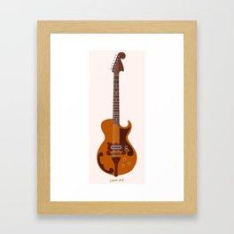 Merle Travis Bigsby Guitar Framed Art Print