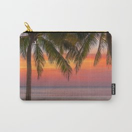 Tropical beach at sunset Carry-All Pouch