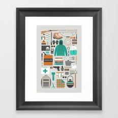 Zombie Survival Kit Framed Art Print