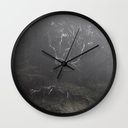 Ghost in the Fog Wall Clock