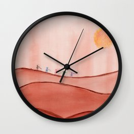 Journeying Friends Wall Clock