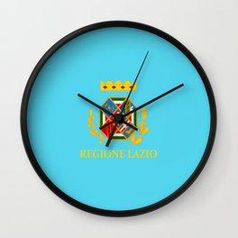 flag of latium or Lazio Wall Clock