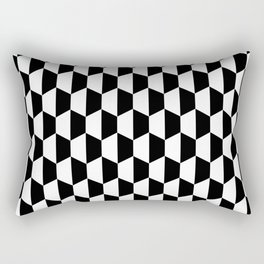 Black and white hexagons Rectangular Pillow