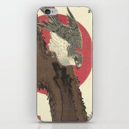 Utagawa Hiroshige - Hawk on Pine Tree iPhone Skin