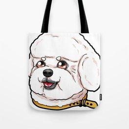 Bichon Frise Dog Puppy Cartoon Comic funny Present Tote Bag