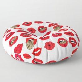 Leopard Lips of Love Floor Pillow