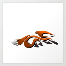Graffiti Fox Art Print