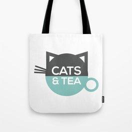 Cats & Tea Tote Bag