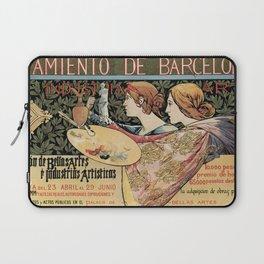 Vintage Art Nouveau expo Barcelona 1896 Laptop Sleeve