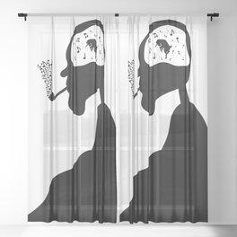 Devil's Dance Sheer Curtain