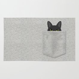 Pocket Black Cat Rug