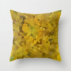Mosaic Yellow Sunflower series 4 Throw Pillow