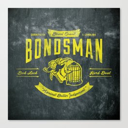 Beast Coast Bondsman (GOLD) Canvas Print