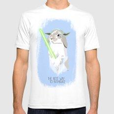 Yoda rabbit MEDIUM White Mens Fitted Tee