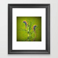 Fantasy Parrots Framed Art Print