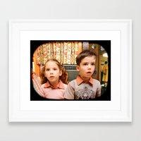 boob Framed Art Prints featuring Boob Tube by Pamela Thompson