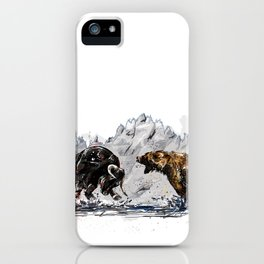 Bull and Bear iPhone Case
