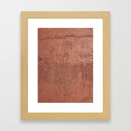 Rosegold cement wall Framed Art Print