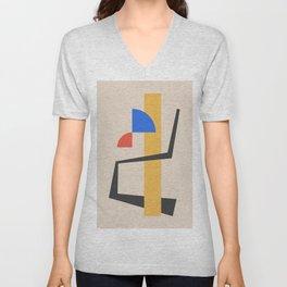 Bauhaus Style Abstract 2 Unisex V-Neck
