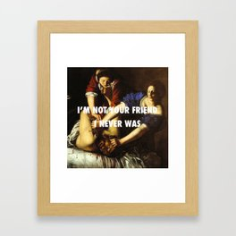 Judith Stopping Holofernes Framed Art Print