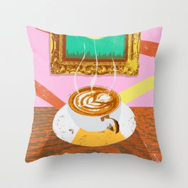 MOON COFFEE Throw Pillow