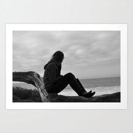 Beach Watching Art Print