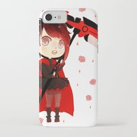 rwby iPhone & iPod Cases featuring RWBY Chibi by Whisperwing
