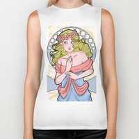 art nouveau Biker Tanks featuring Art Nouveau  by Brizy Eckert