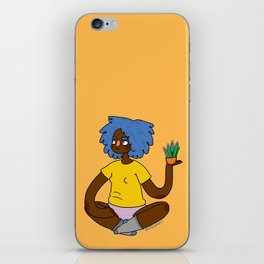 Plant Girl iPhone Skin