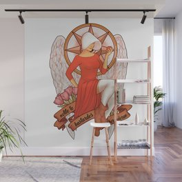 Handmaid's Tale   Nolite te bastardes carborundorum pin up girl Wall Mural