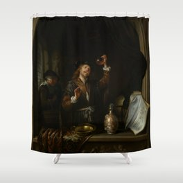 """Gerard Dou """"The Doctor"""" Shower Curtain"""