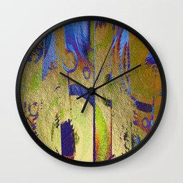 Gold Leaf Layers Abstract Wall Clock