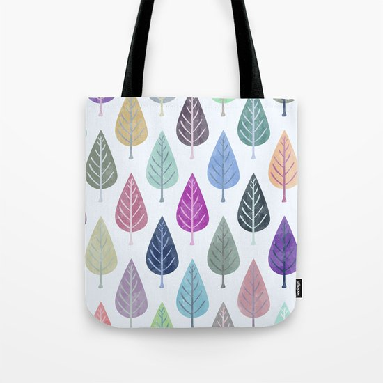 Watercolor Forest Pattern III Tote Bag