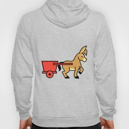 Mule and cart icon Hoody
