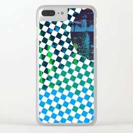 Color Chrome -circle/geometric graphic Clear iPhone Case