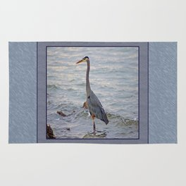 still here wading (square) Rug