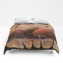 The Pears Fresco With a Crackle Finish #Society6 Comforters