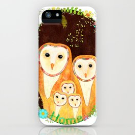 Owl Family Home iPhone Case