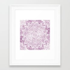 BOHEMIAN FLOWER MANDALA IN PINK Framed Art Print