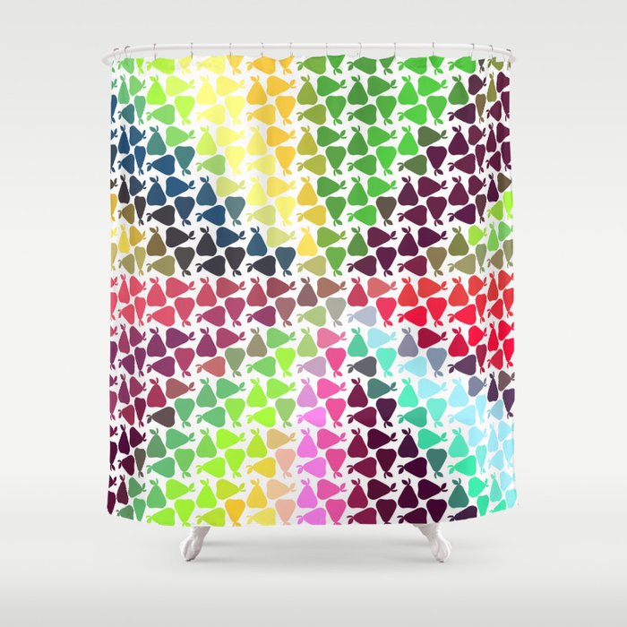 Pear frenzy Shower Curtain