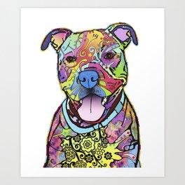 Colourful Pit Bulls, Pit Bulls Gift Art Print