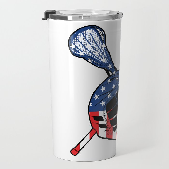A Sports Tee For Sporty You With An Illustration Of A Helmet American Flag T-shirt Design America Travel Mug
