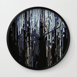 Ice Pixels Wall Clock