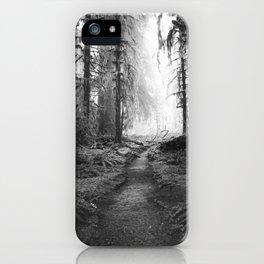 Magical Washington Rainforest Black and White iPhone Case