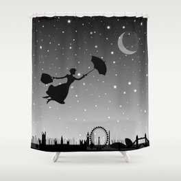 magical mary poppins Over London Shower Curtain