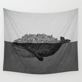 Whale City Wall Tapestry