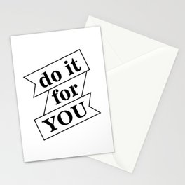 """ Fitness Collection "" - Do It For You Stationery Cards"
